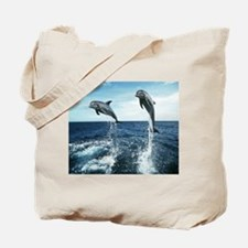 Dolphins In The Ocean Tote Bag