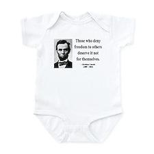 Abraham Lincoln 12 Infant Bodysuit