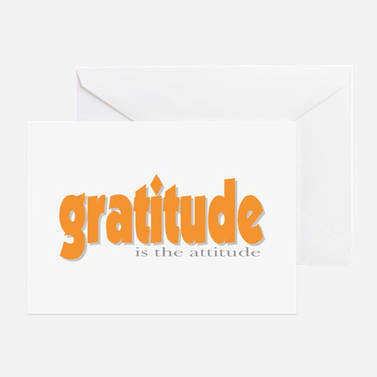 Gratitude is the Attitude Greeting Cards (Package