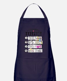 I Love Being Mimi T Shirt Apron (dark)