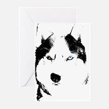 Husky Gifts Bi-Eye Husky Shirts & G Greeting Cards