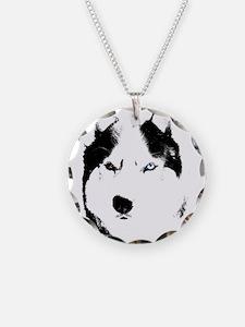 Husky Bi-Eye Husky Dog Necklace