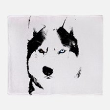 Husky Bi-Eye Husky Dog Throw Blanket