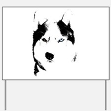 Husky Bi-Eye Husky Dog Yard Sign