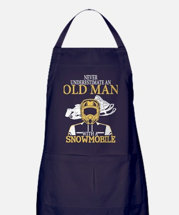 Snowmobile T Shirt Apron (dark)