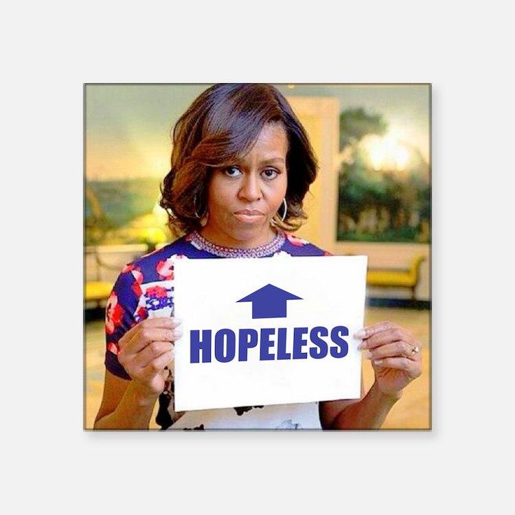Michelle Obama Hopeless Sticker