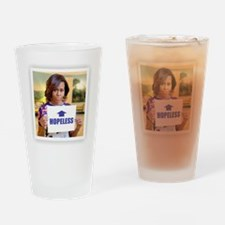 Michelle Obama Hopeless Drinking Glass