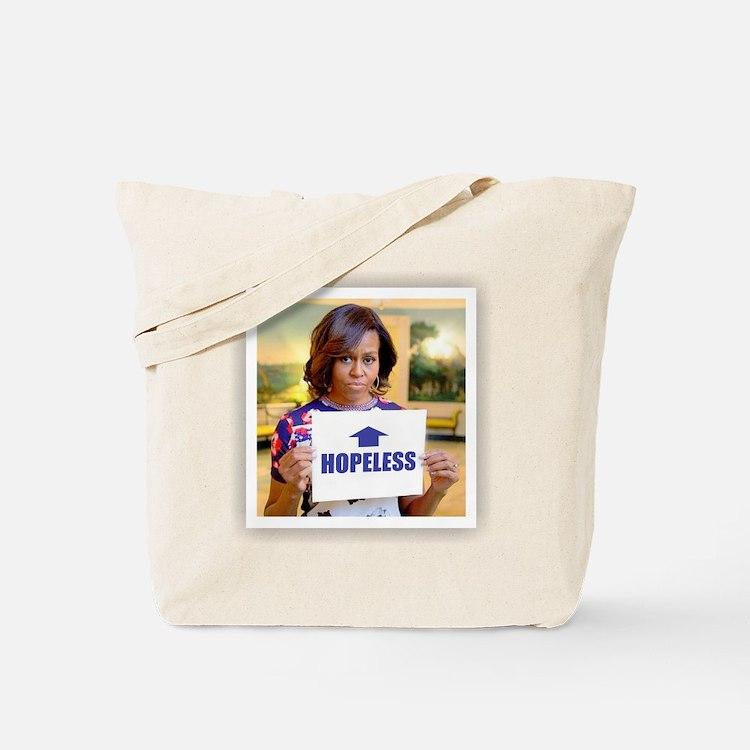 Michelle Obama Hopeless Tote Bag