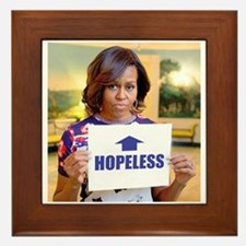 Michelle Obama Hopeless Framed Tile