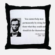 Abraham Lincoln 13 Throw Pillow