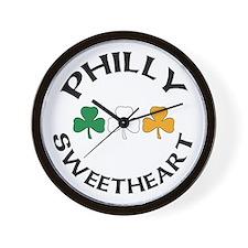 Philly Irish Sweetheart Wall Clock