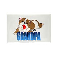 Bulldog Grandpa Rectangle Magnet