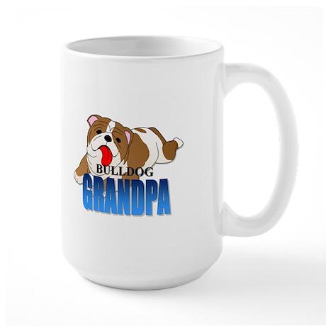 Bulldog Grandpa Large Mug