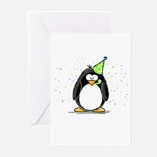 Party Penguin Greeting Cards
