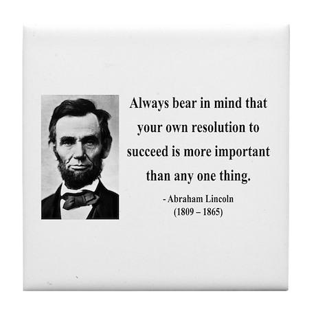 Abraham Lincoln 15 Tile Coaster