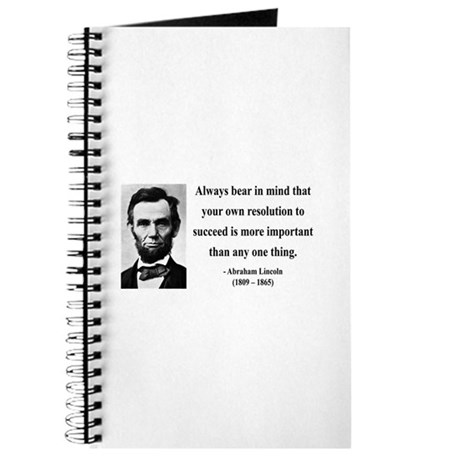 Abraham Lincoln 15 Journal