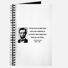 Abraham Lincoln 15 Journal