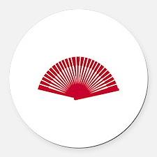 Fan Round Car Magnet
