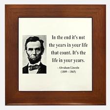 Abraham Lincoln 17 Framed Tile
