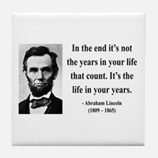 Abraham Lincoln 17 Tile Coaster