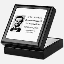Abraham Lincoln 17 Keepsake Box
