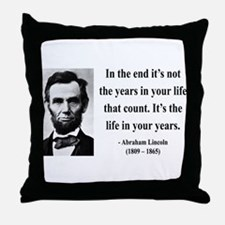 Abraham Lincoln 17 Throw Pillow