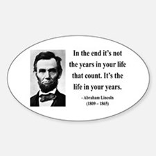 Abraham Lincoln 17 Oval Decal