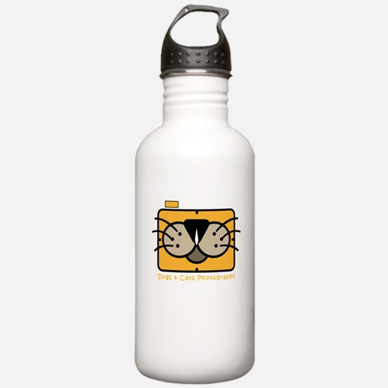 dogs and cats photogra Water Bottle