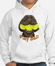 Play Ball, Labrador with Tennis Balls Sweatshirt