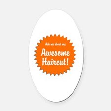 Family humour Oval Car Magnet