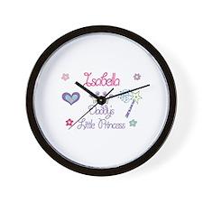 Isabella - Daddy's Little Pri Wall Clock