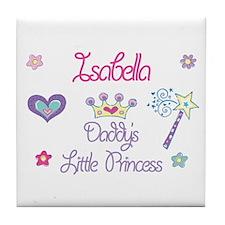 Isabella - Daddy's Little Pri Tile Coaster