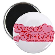 Sweet Sixteen Birthday Retro Magnet