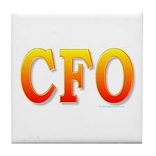 CFO - Chief Financial Officer Tile Coaster