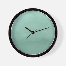 Mint Ombre Watercolor Wall Clock