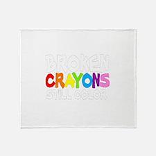 BROKEN CRAYONS STILL COLOR Throw Blanket