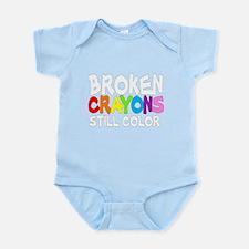 BROKEN CRAYONS STILL COLOR Infant Bodysuit