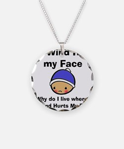 THE WIND HURTS MY FACE Necklace
