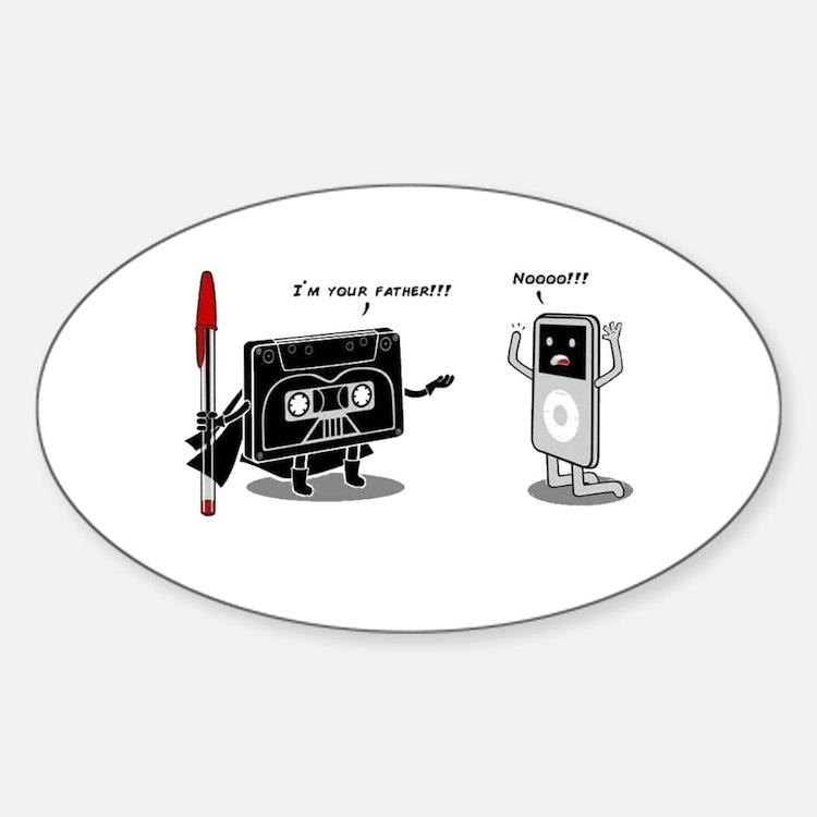 Pod I'm Your Father Sticker (Oval)