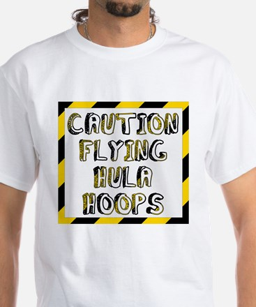 Caution Flying Hula Hoops T-Shirt