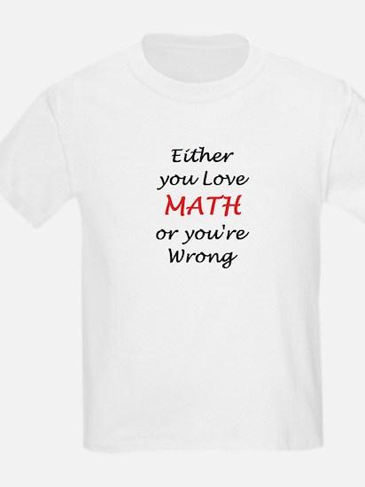 love math or T-Shirt