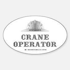 Crane Operator Oval Bumper Stickers