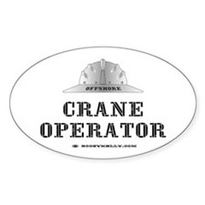 Crane Operator Oval Decal