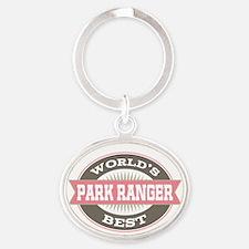 park ranger Oval Keychain