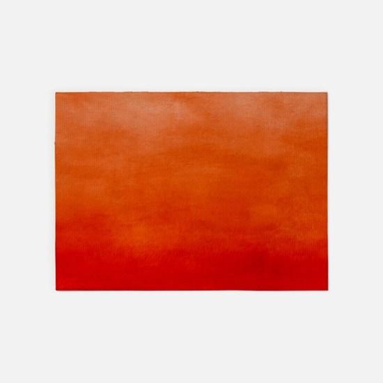 Blaze Ombre Watercolor 5'x7'Area Rug