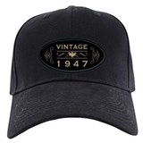 70th birthday vintage Baseball Cap with Patch