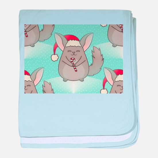 christmas chinchillas baby blanket