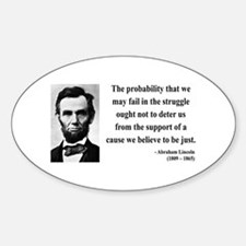 Abraham Lincoln 20 Oval Decal