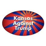 Kansas Against Trump Oval Sticker