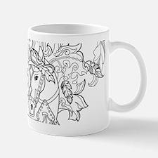 Prancing Feather Horse Design Mugs